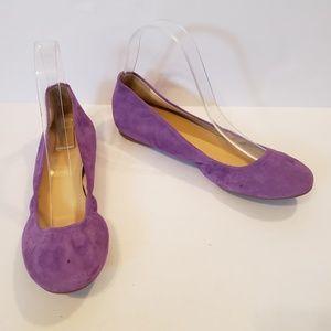 J.Crew   purple suede leather ballet flats